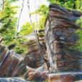 © Elizabeth Burin, Birches and Boulders